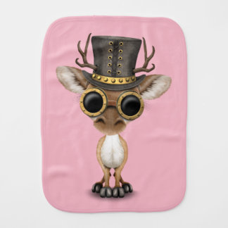 Cute Steampunk Baby Deer Burp Cloth