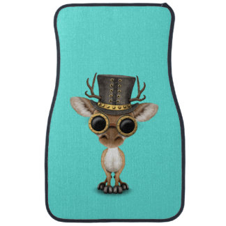 Cute Steampunk Baby Deer Car Mat