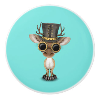 Cute Steampunk Baby Deer Ceramic Knob