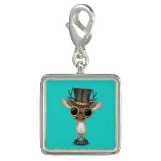 Cute Steampunk Baby Deer Charm