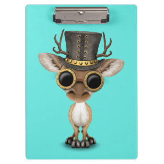 Cute Steampunk Baby Deer Clipboard