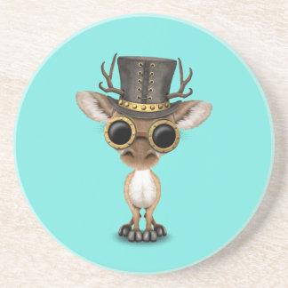 Cute Steampunk Baby Deer Coaster