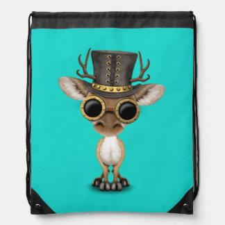 Cute Steampunk Baby Deer Drawstring Bag