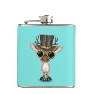 Cute Steampunk Baby Deer Hip Flask