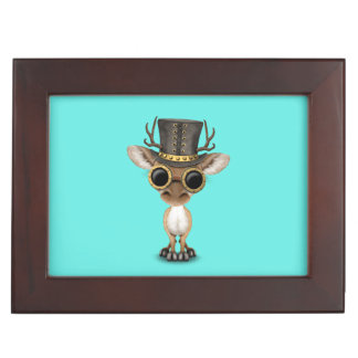 Cute Steampunk Baby Deer Keepsake Box