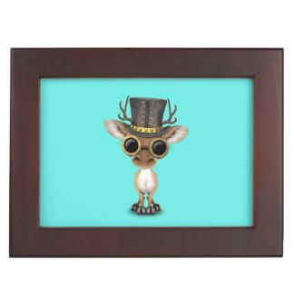 Cute Steampunk Baby Deer Keepsake Box