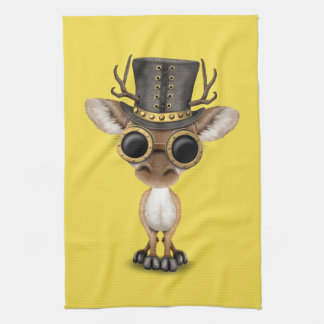 Cute Steampunk Baby Deer Kitchen Towel