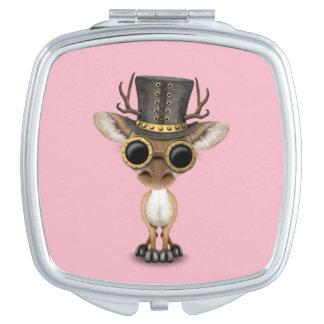 Cute Steampunk Baby Deer Mirror For Makeup