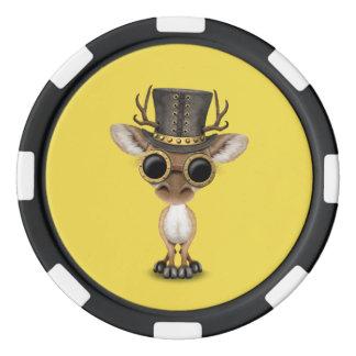 Cute Steampunk Baby Deer Poker Chips