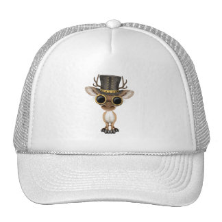 Cute Steampunk Baby Deer Trucker Hat