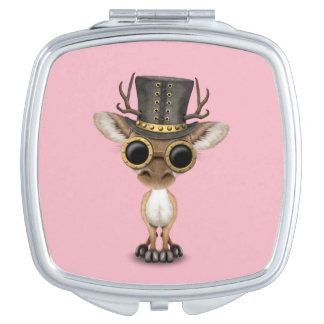 Cute Steampunk Baby Deer Vanity Mirror