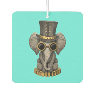Cute Steampunk Baby Elephant Cub Car Air Freshener