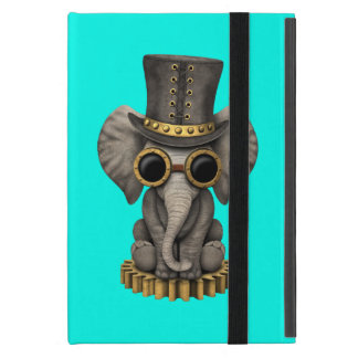 Cute Steampunk Baby Elephant Cub Case For iPad Mini