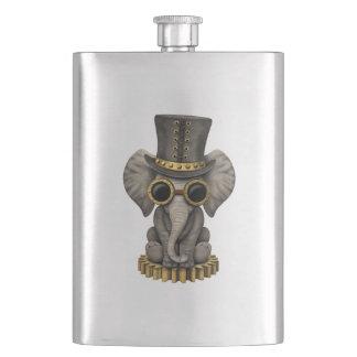 Cute Steampunk Baby Elephant Cub Hip Flask