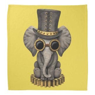 Cute Steampunk Baby Elephant Cub Kerchiefs