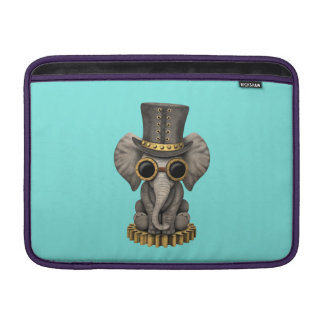 Cute Steampunk Baby Elephant Cub MacBook Sleeve