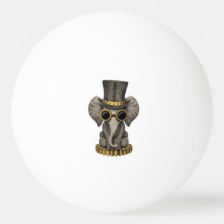 Cute Steampunk Baby Elephant Cub Ping Pong Ball