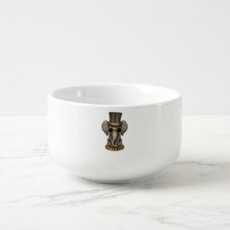 Cute Steampunk Baby Elephant Cub Soup Mug