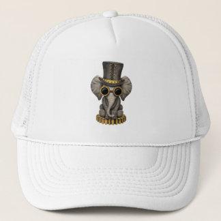 Cute Steampunk Baby Elephant Cub Trucker Hat