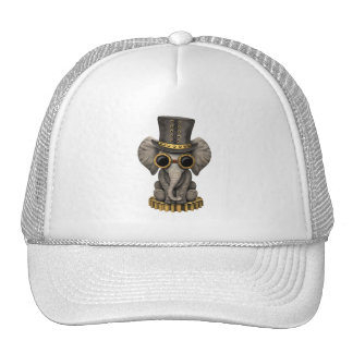 Cute Steampunk Baby Elephant Cub Trucker Hat