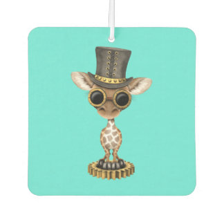 Cute Steampunk Baby Giraffe Car Air Freshener