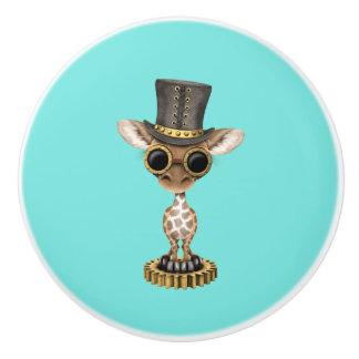Cute Steampunk Baby Giraffe Ceramic Knob