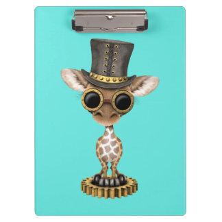 Cute Steampunk Baby Giraffe Clipboards