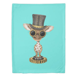 Cute Steampunk Baby Giraffe Duvet Cover
