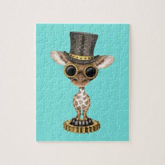 Cute Steampunk Baby Giraffe Jigsaw Puzzle
