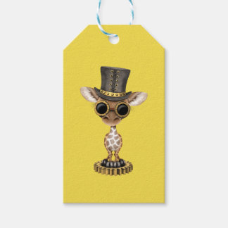 Cute Steampunk Baby Giraffe Pack Of Gift Tags