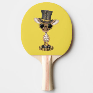 Cute Steampunk Baby Giraffe Ping Pong Paddle