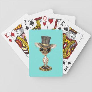 Cute Steampunk Baby Giraffe Playing Cards