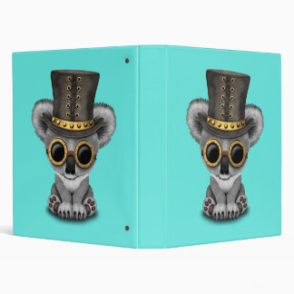 Cute Steampunk Baby Koala Bear Binders