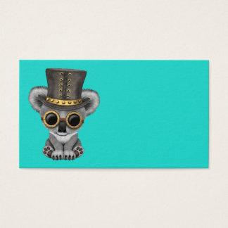 Cute Steampunk Baby Koala Bear Business Card