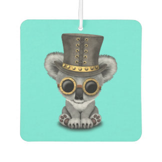 Cute Steampunk Baby Koala Bear Car Air Freshener