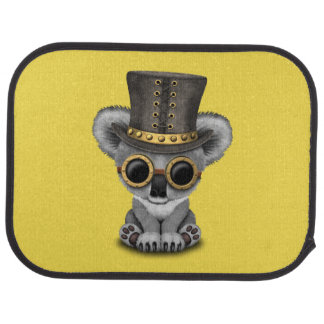 Cute Steampunk Baby Koala Bear Car Mat