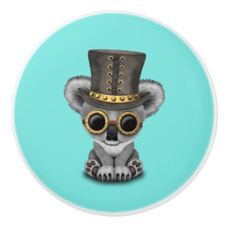 Cute Steampunk Baby Koala Bear Ceramic Knob
