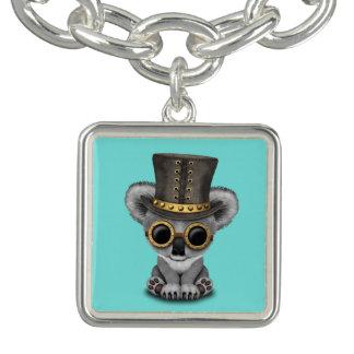 Cute Steampunk Baby Koala Bear Charm Bracelet