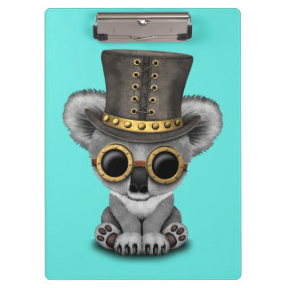 Cute Steampunk Baby Koala Bear Clipboard