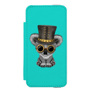 Cute Steampunk Baby Koala Bear Incipio Watson™ iPhone 5 Wallet Case