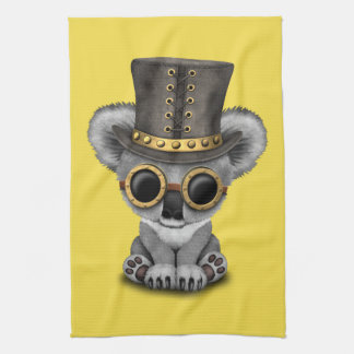 Cute Steampunk Baby Koala Bear Kitchen Towel