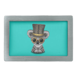 Cute Steampunk Baby Koala Bear Rectangular Belt Buckle