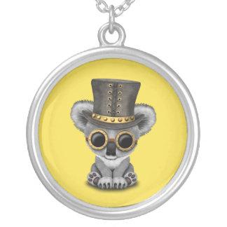 Cute Steampunk Baby Koala Bear Silver Plated Necklace