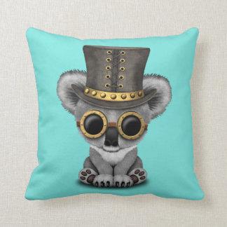 Cute Steampunk Baby Koala Bear Throw Pillow