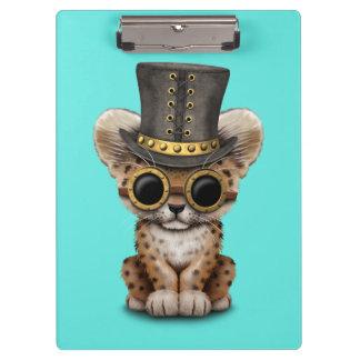 Cute Steampunk Baby Leopard Cub Clipboard