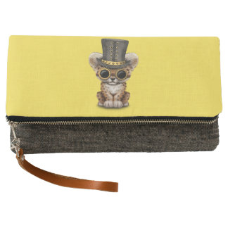 Cute Steampunk Baby Leopard Cub Clutch