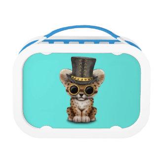 Cute Steampunk Baby Leopard Cub Lunch Box