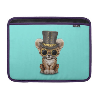 Cute Steampunk Baby Leopard Cub MacBook Sleeve