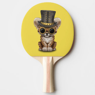 Cute Steampunk Baby Leopard Cub Ping Pong Paddle