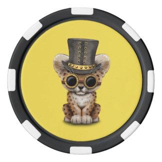 Cute Steampunk Baby Leopard Cub Poker Chips